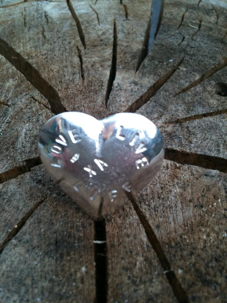 Xannelies LoveLiveLife Hart handmade 925 zilver