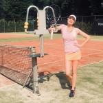 Tennislerares voor Bas van der Leegte bij T.V. Wettenseind